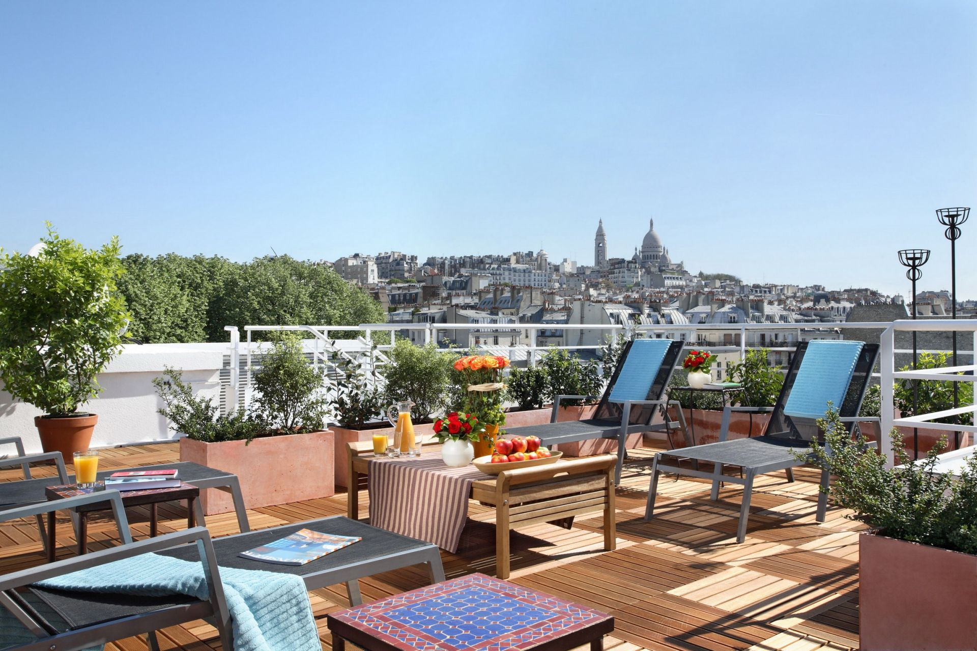 Terrasse hotel caulaincourt