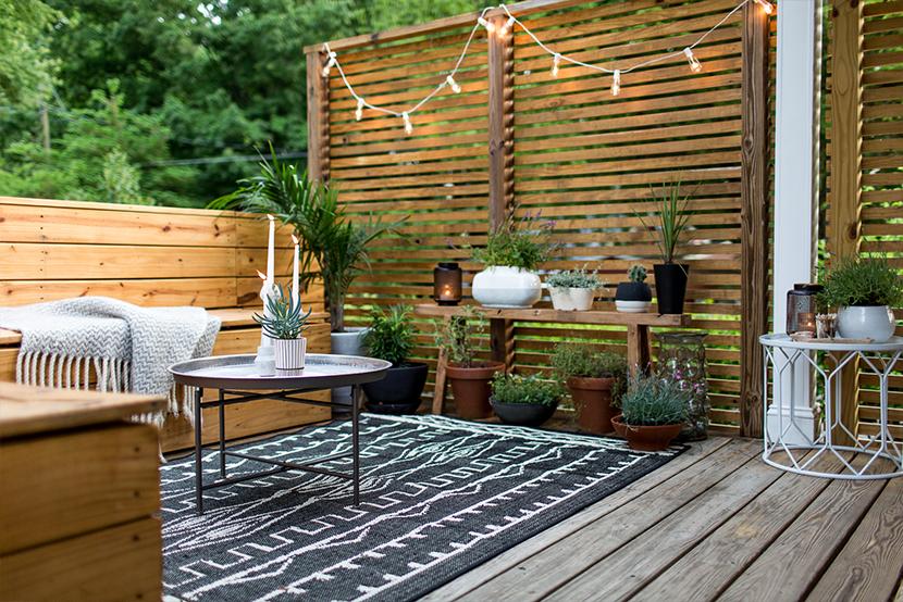 Terrasse bois aménagée