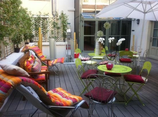 Terrasse hotel lyon