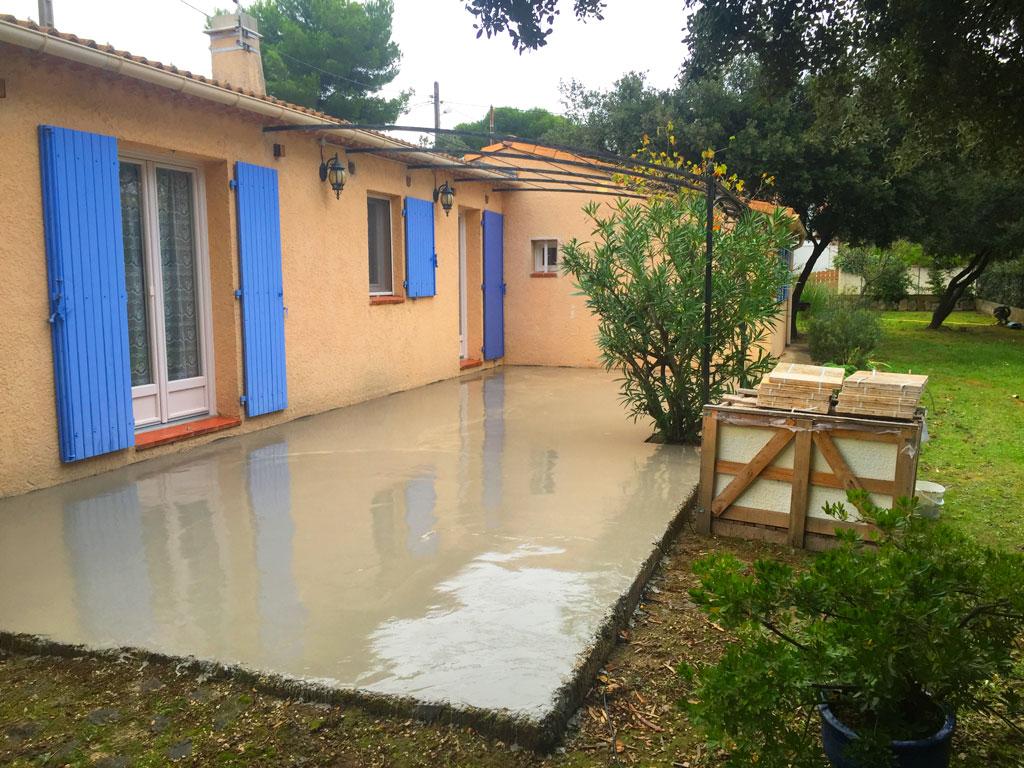 Terrasse beton ragréage