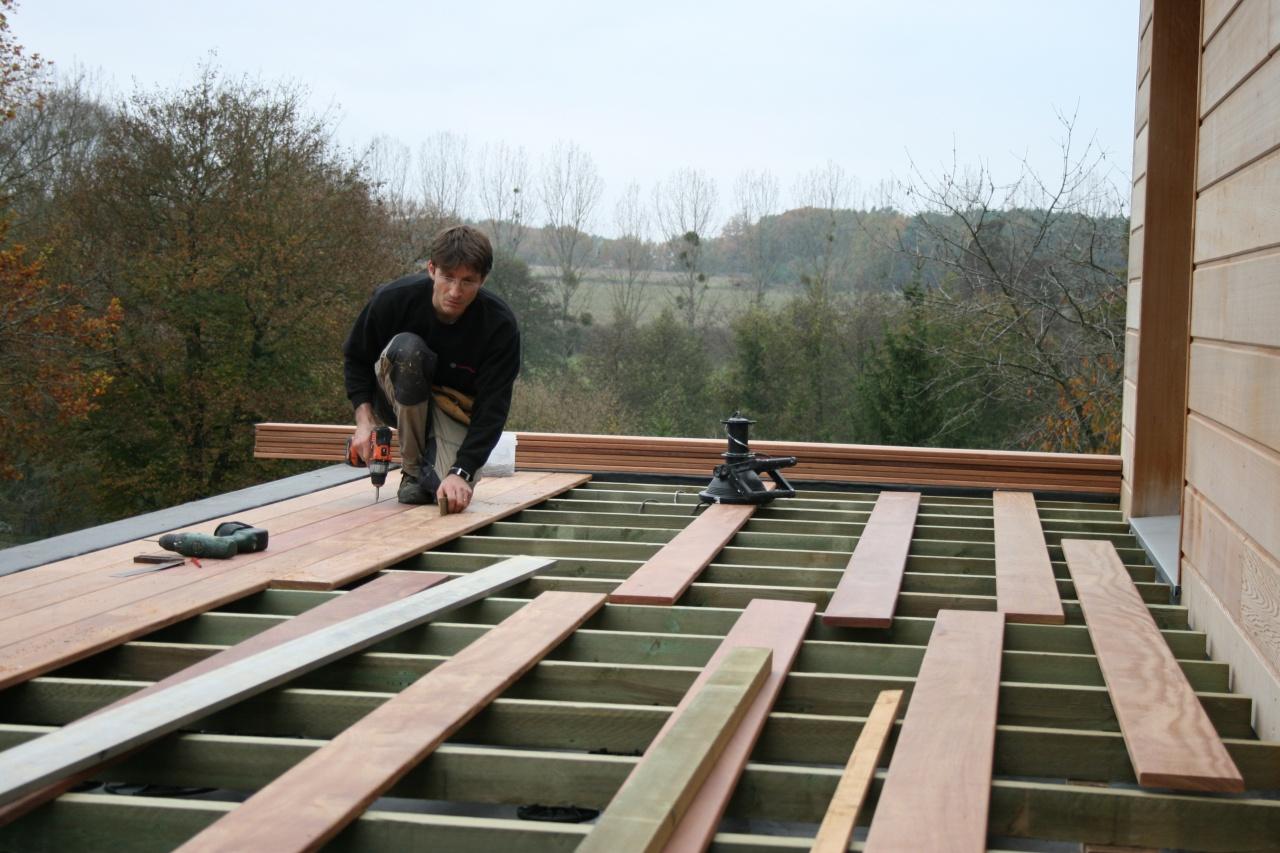 Terrasse balcon bois