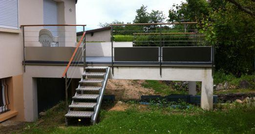 Terrasse beton sur pilotis