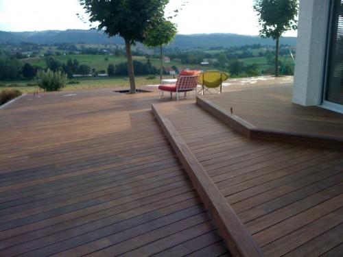 Terrasse Bois En Pente Mailleraye Fr Jardin