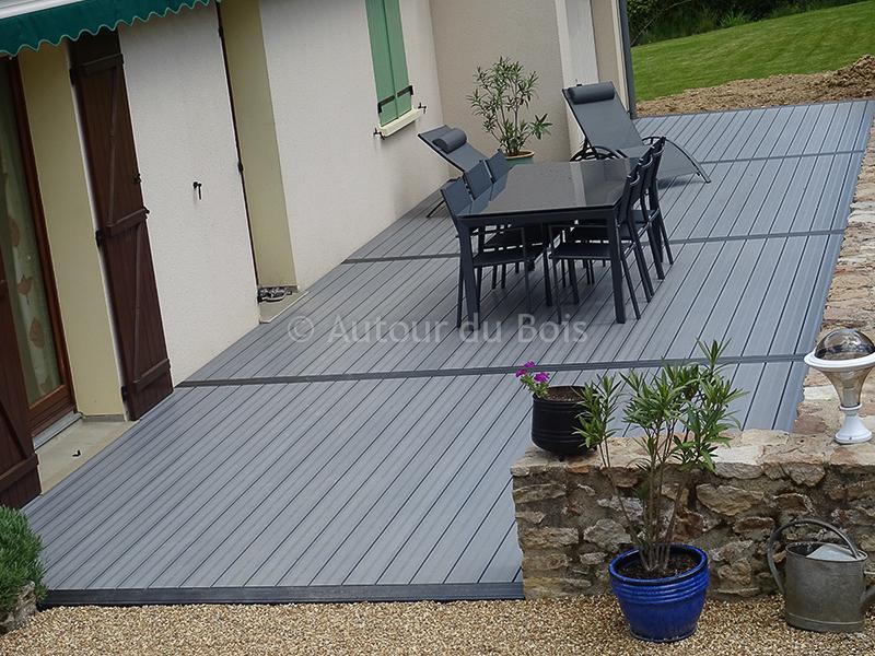 Terrasse composite gris prix