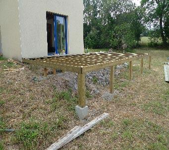 Terrasse bois composite pente