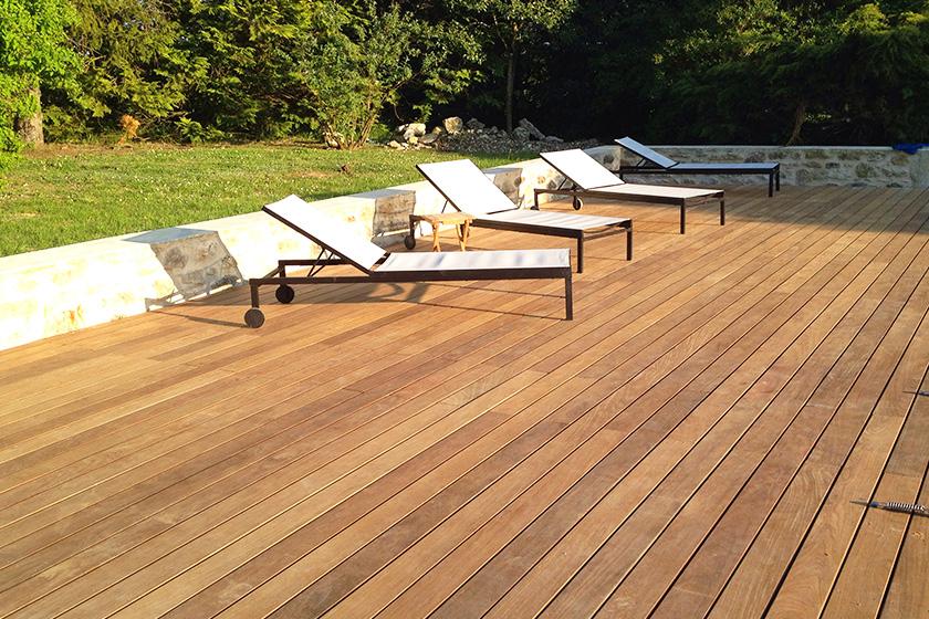 Terrasse bois exotique la rochelle