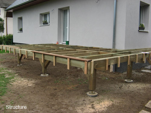 Video construction terrasse bois sur pilotis