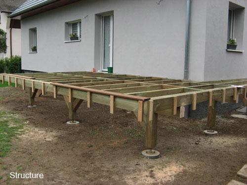 Video construction terrasse bois sur pilotis