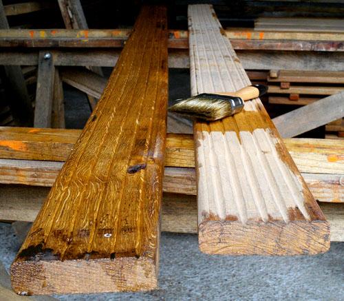 Terrasse bois huile de lin