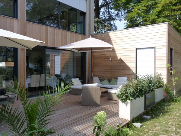 Terrasse bois contemporaine