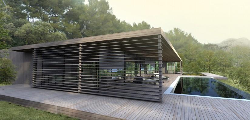 Terrasse bois maison contemporaine - Mailleraye.fr jardin