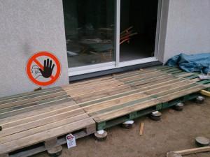Fabriquer terrasse avec palettes