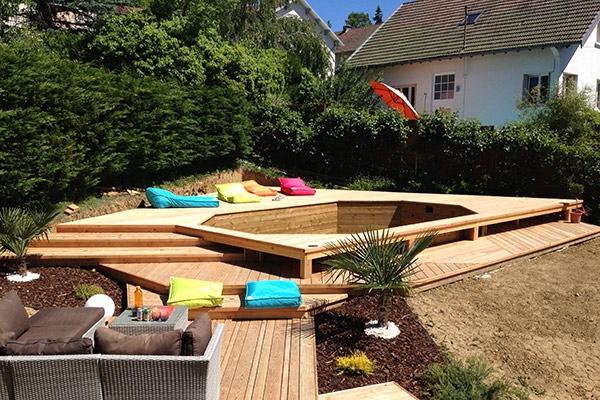 Amenagement terrasse avec piscine hors sol