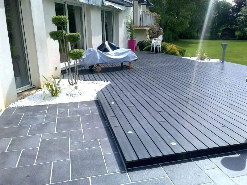 Terrasse bois sur carrelage