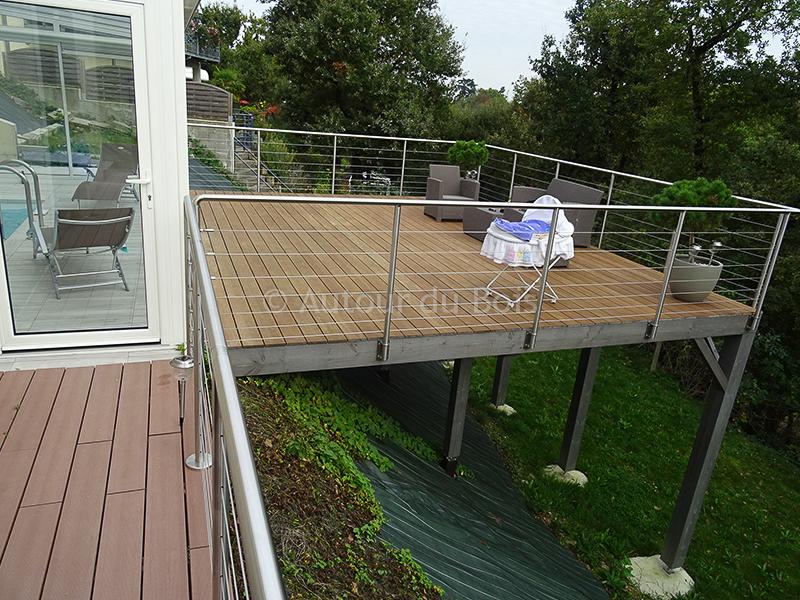 Image terrasse bois sur pilotis