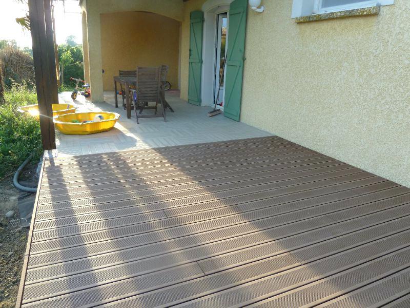 Terrasse carrelage ou lame composite