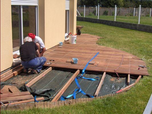 Terrasse bois composite arrondie