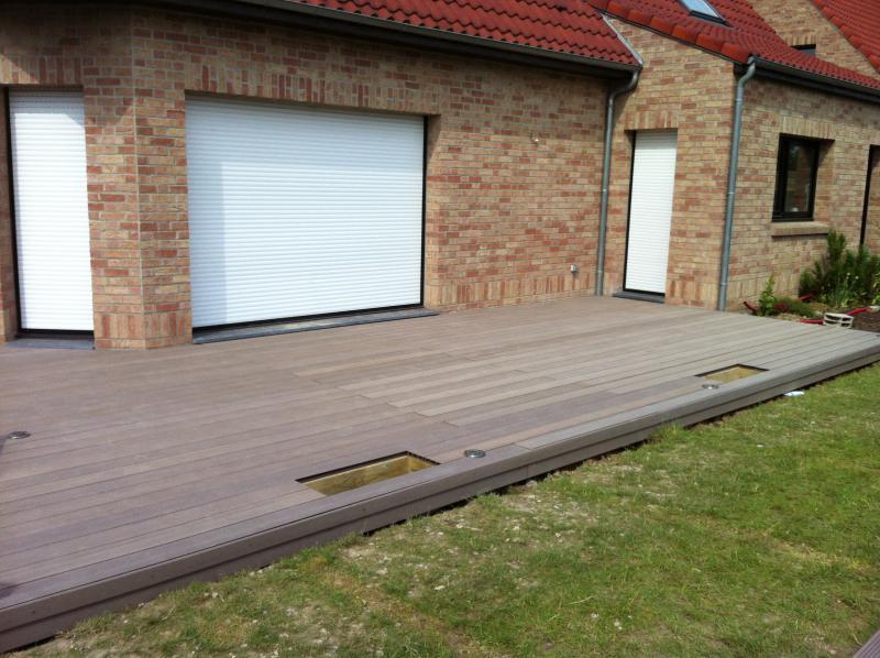 Terrasse bois composite deceuninck