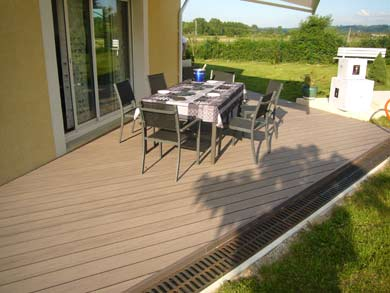 Terrasse composite ronde