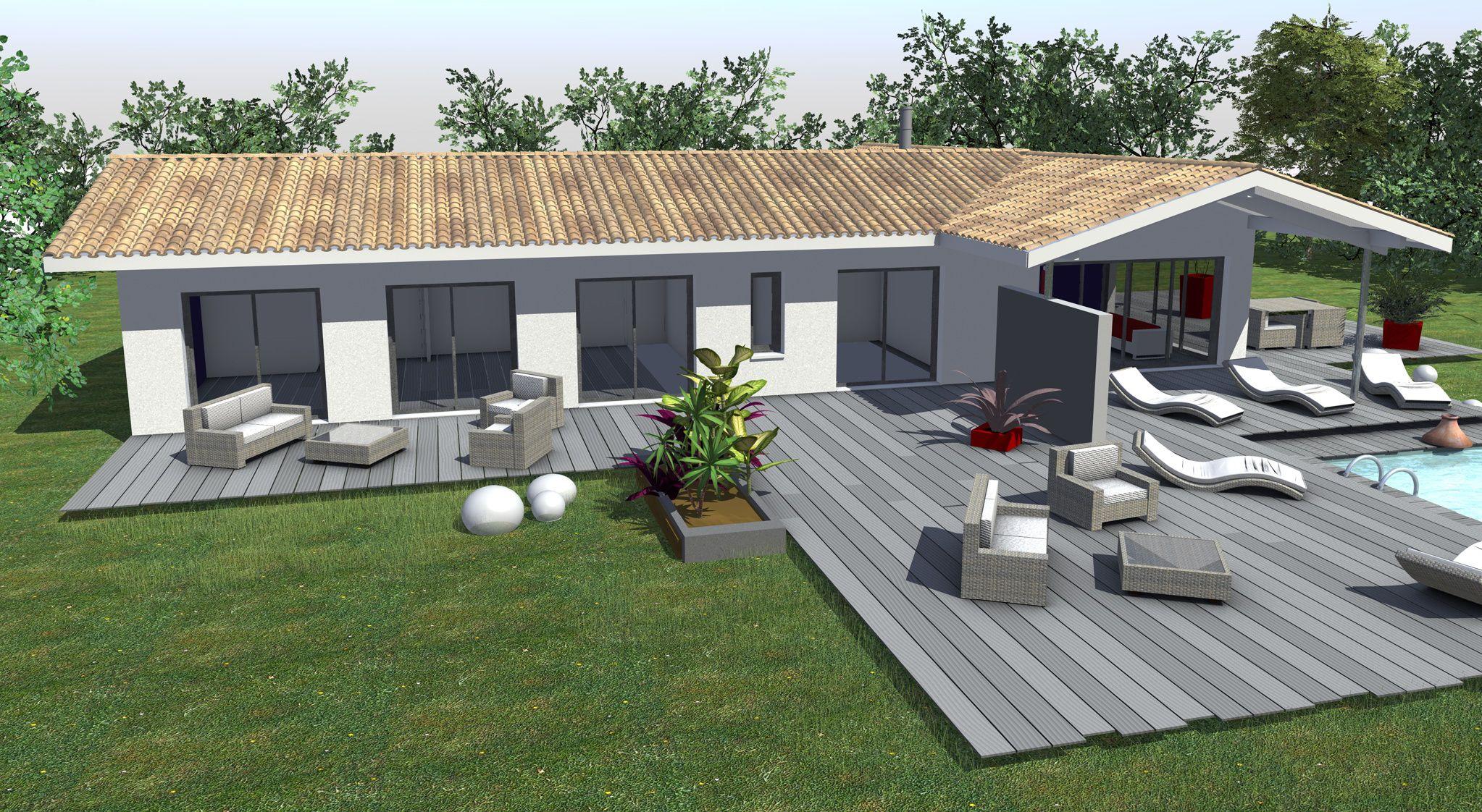 Terrasse Couverte En L Mailleraye Fr Jardin