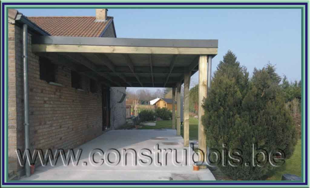 Terrasse couverte toit plat