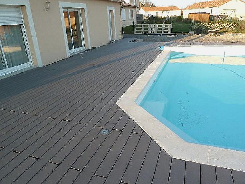 Terrasse composite et piscine