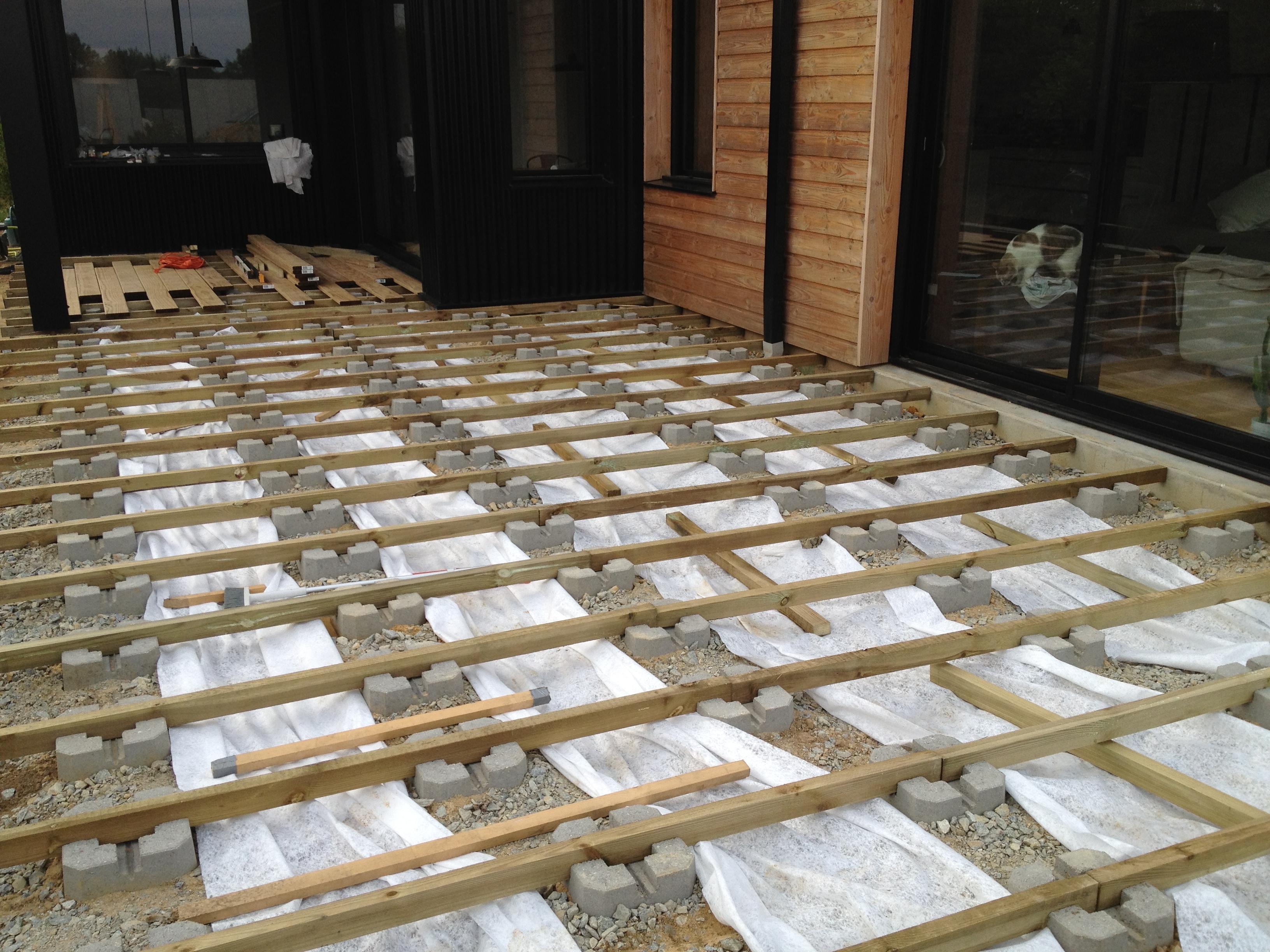 Construction Terrasse Bois Sur Plot Beton