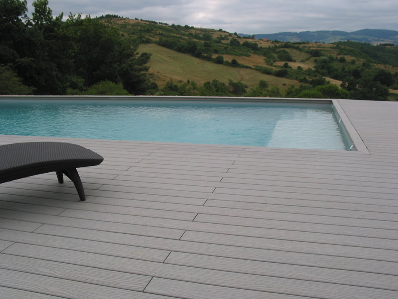 Terrasse Piscine Bois Composite Gris Mailleraye Fr Jardin