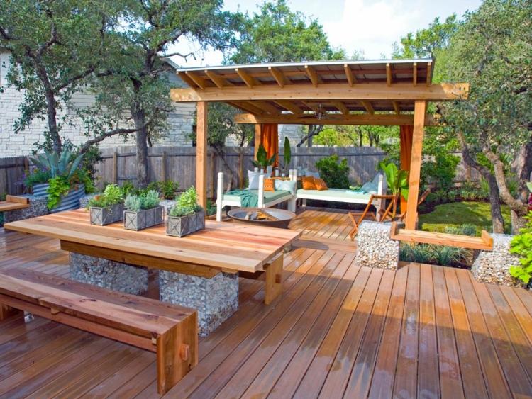 Terrasse couverte dans jardin - Mailleraye.fr jardin