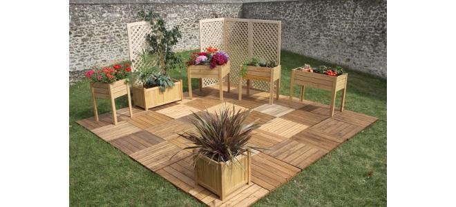 terrasse jardin en bois jardin. Black Bedroom Furniture Sets. Home Design Ideas