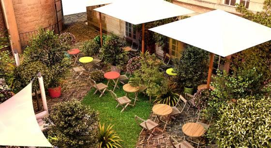 Terrasse jardin bar