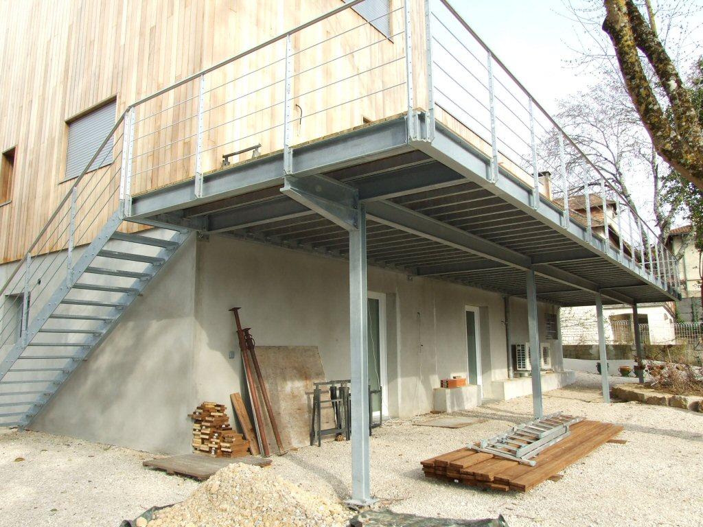 Terrasse bois metal