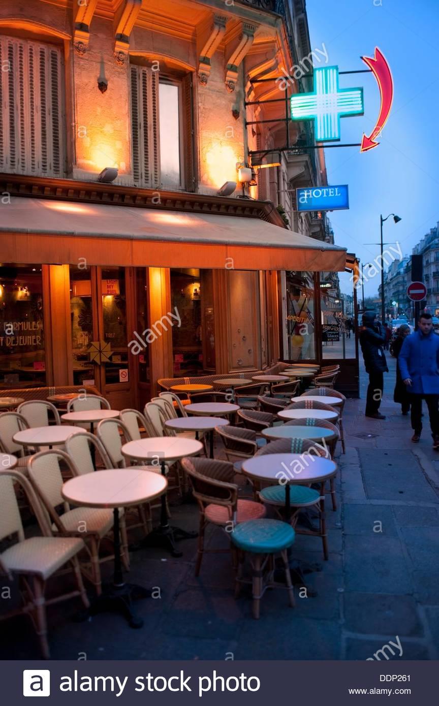 Bar brasserie paris terrasse