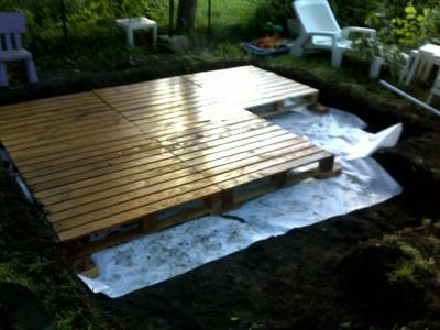 Idee terrasse avec palette - Mailleraye.fr jardin