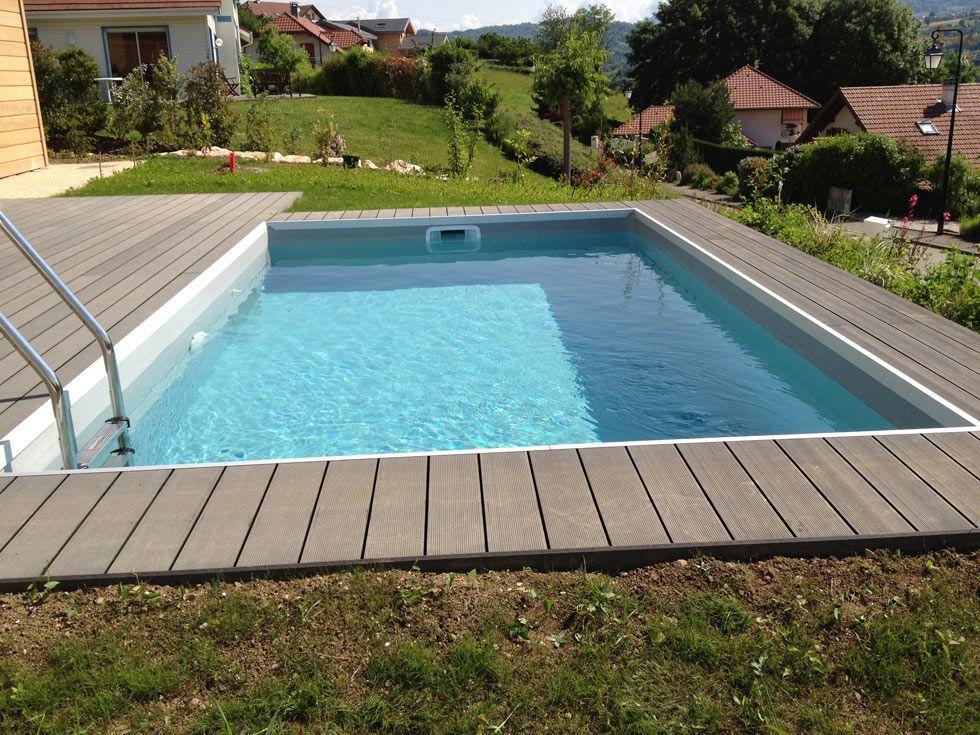 terrasse bois composite avec piscine maillerayefr jardin