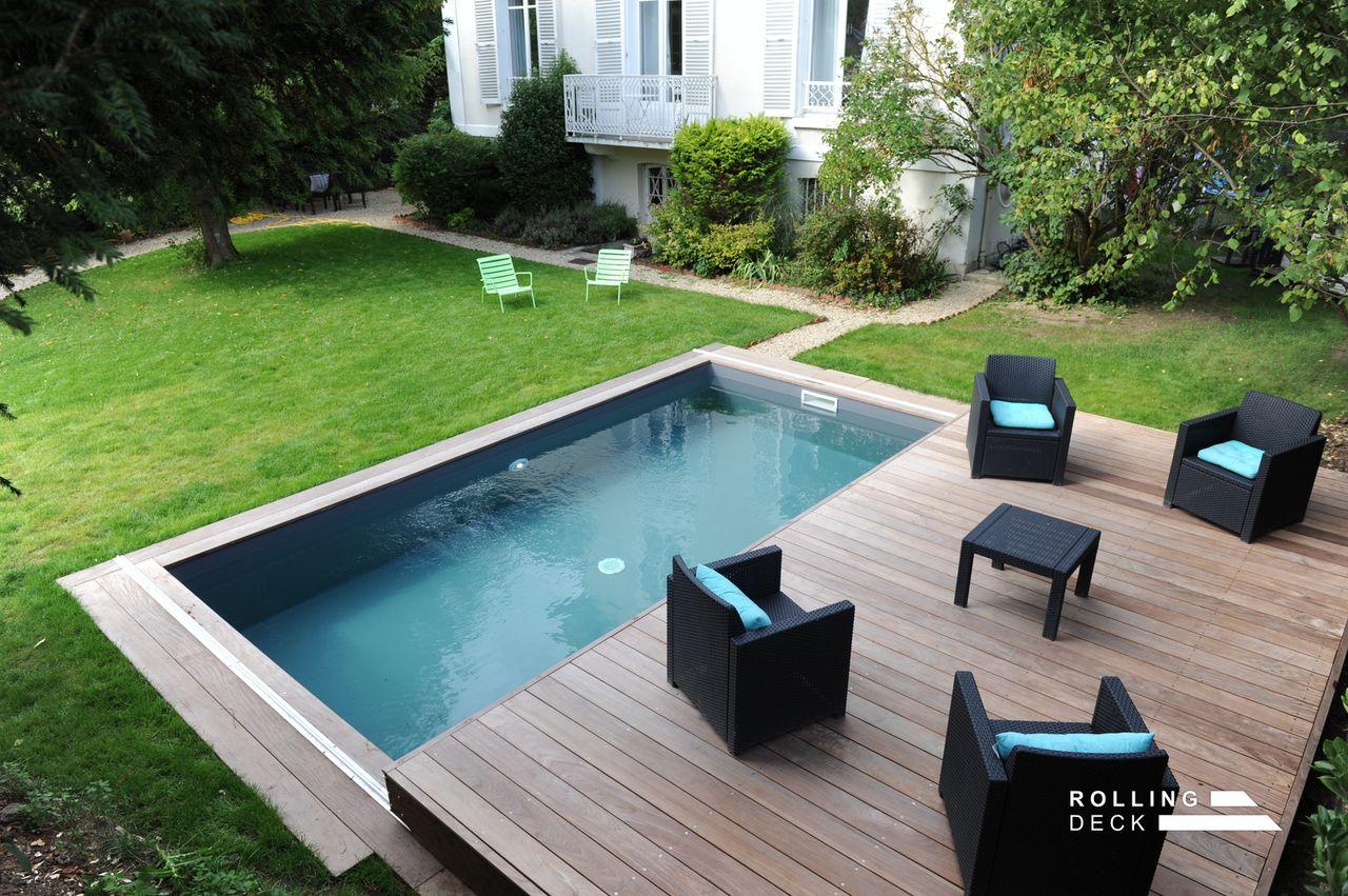 Terrasse mobile couverture piscine