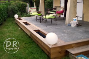 Terrasse bois carrelage