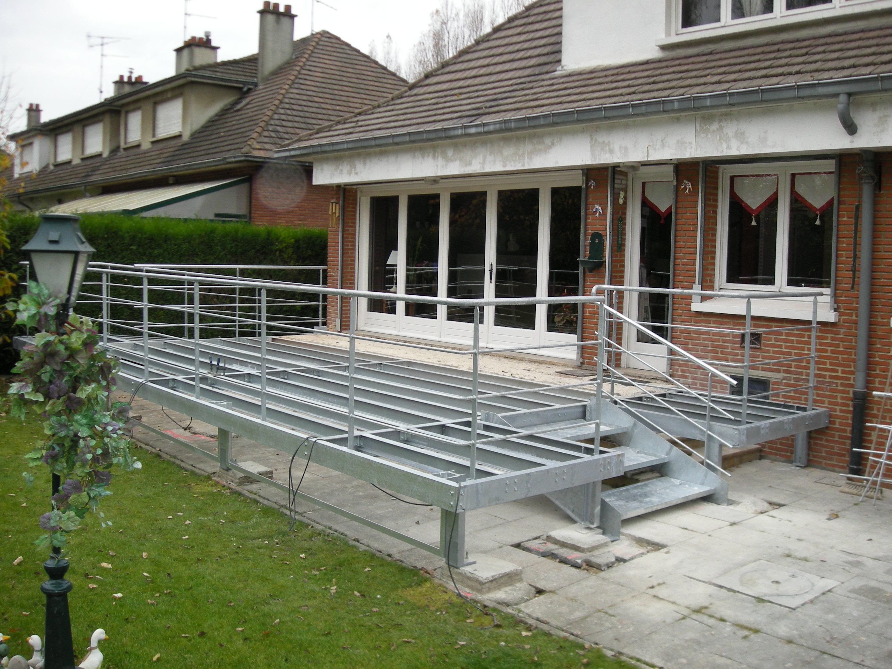 Terrasse en caillebotis acier galvanisé