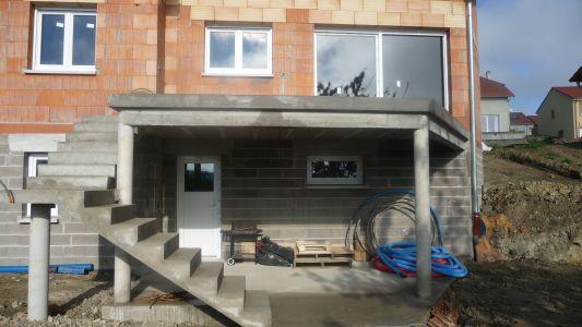 Terrasse beton hauteur
