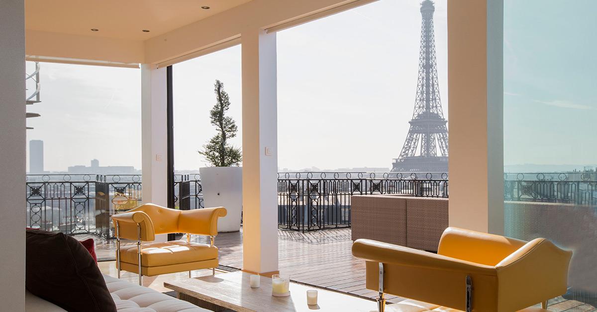 Appartement avec terrasse vue tour eiffel