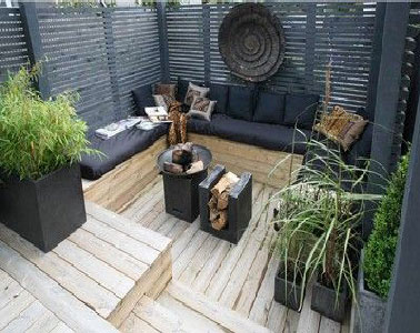 Terrasse avec jardin zen - Mailleraye.fr jardin