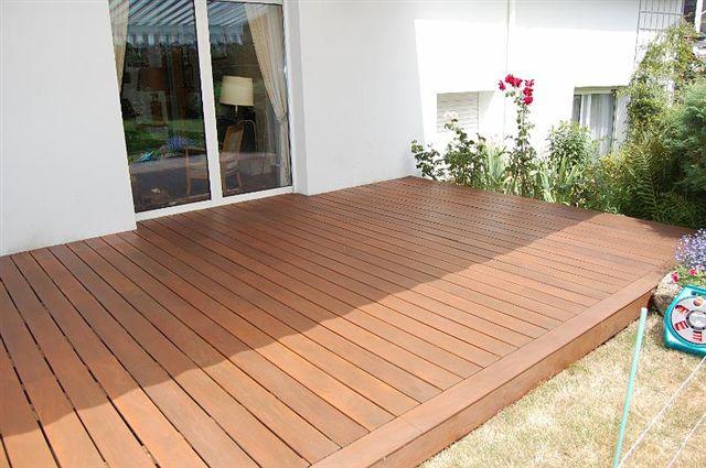Terrasse bois cumaru face striée
