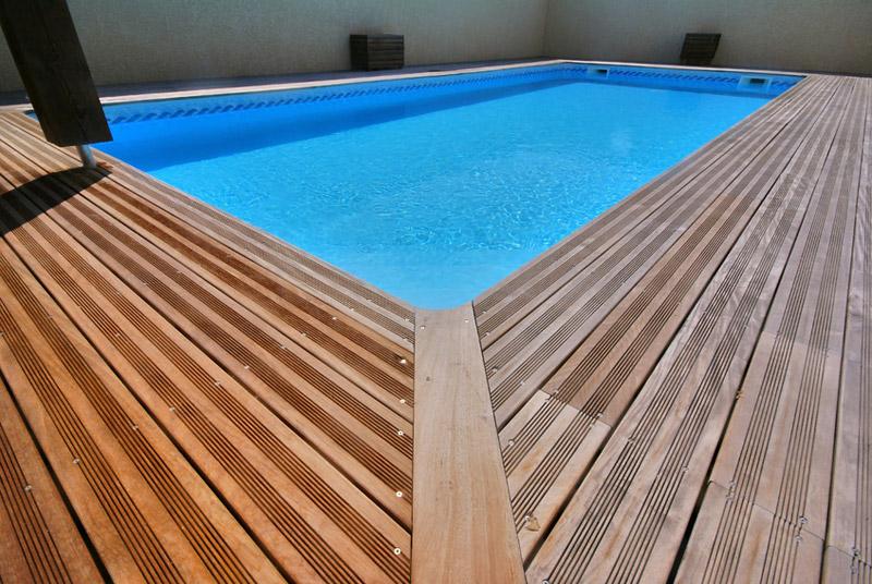 Lame terrasse bois piscine
