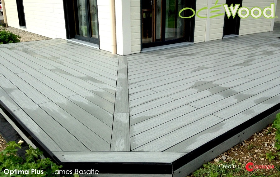 Terrasse composite en l
