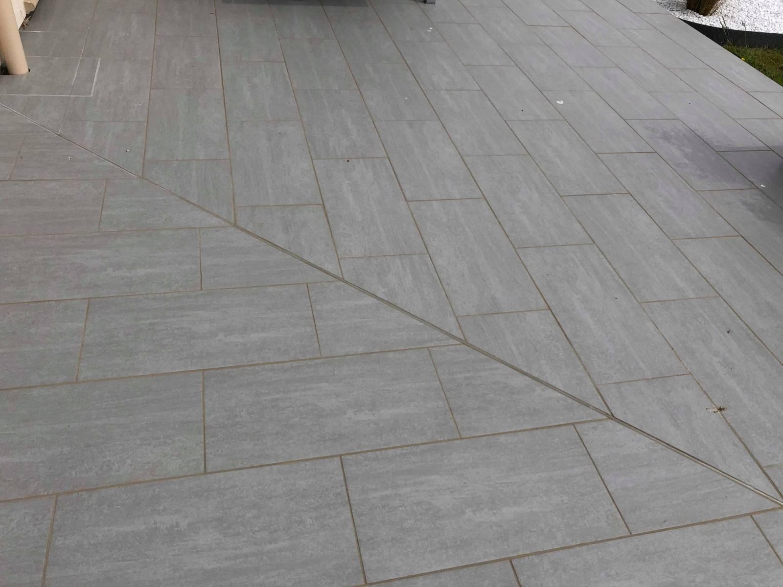 Terrasse beton carrelage