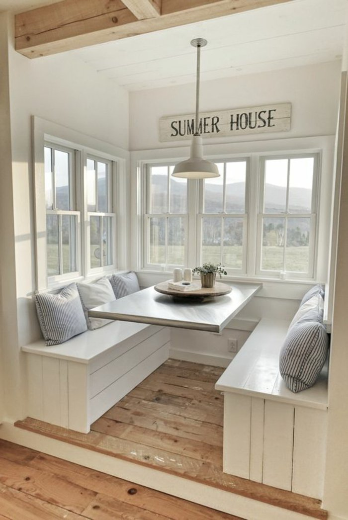 Terrasse couverte bois blanc