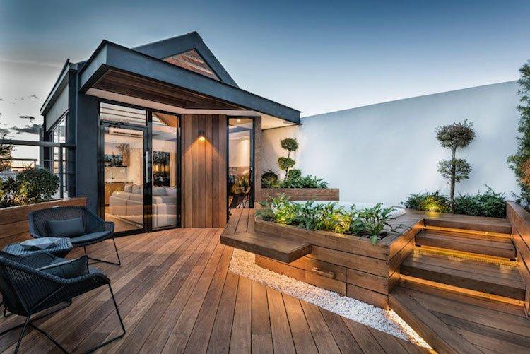 Toiture terrasse amenagee