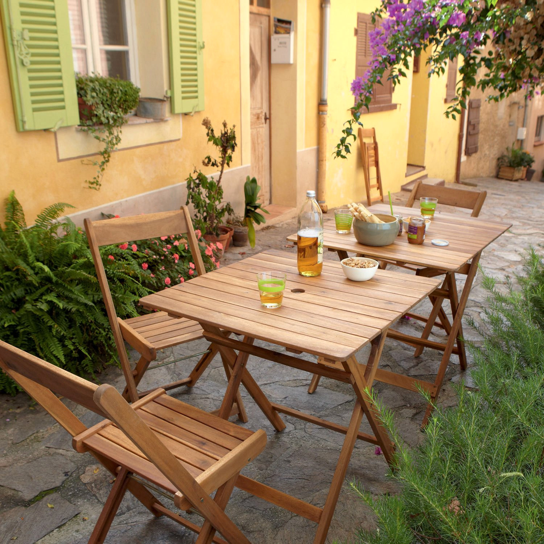 Salon de jardin en bois mr bricolage - Mailleraye.fr jardin