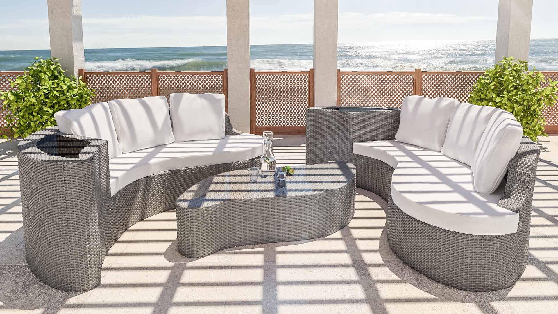 Lounge   salon de jardin en résine tressée   Mailleraye.fr jardin